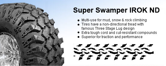 Super swamper irok nd tires at interco factoryoutletstore com